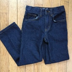 CAT & JACK Relaxed Straight Dark Wash Jeans SZ 6
